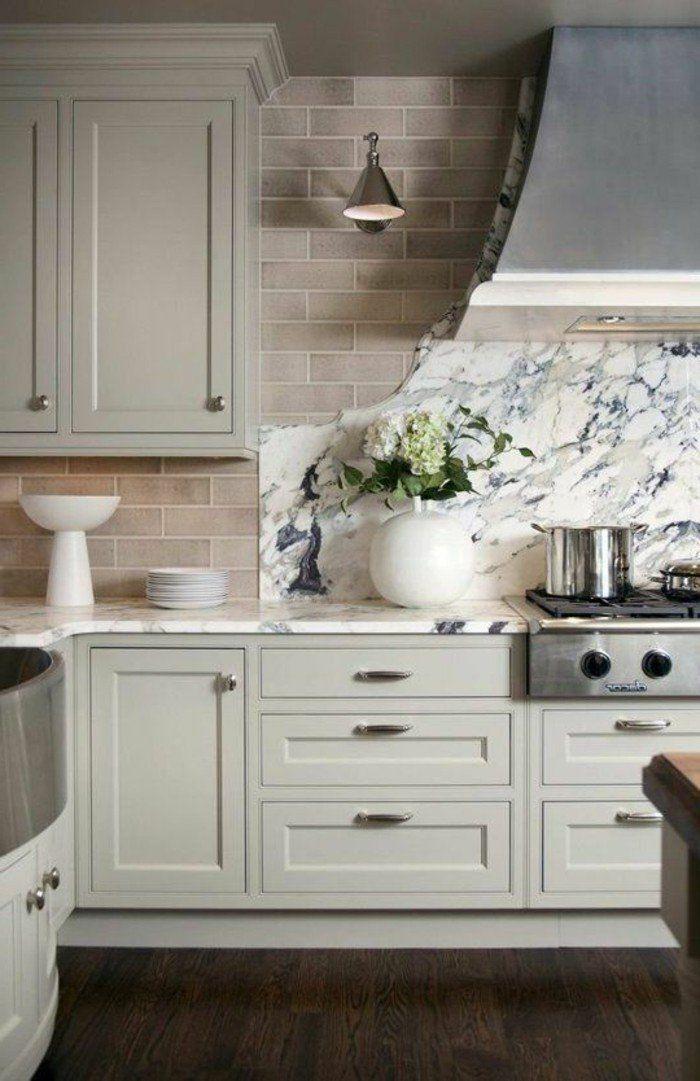 La cuisine esprit campagne nous charme - Elle Décoration Arch - Repeindre Un Meuble En Chene