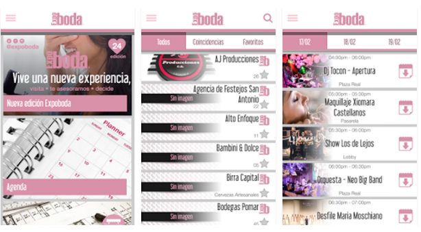 Nueva app EXPOBODA Wedding Planning