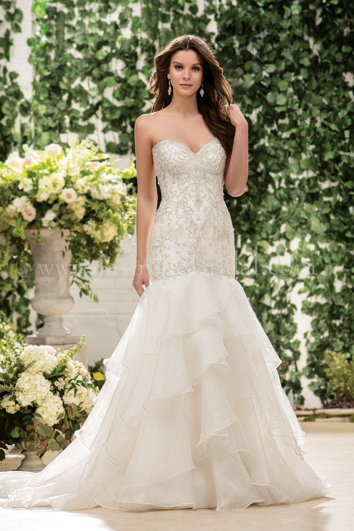Jasmine Bridal Collection Style F181066 in Ivory