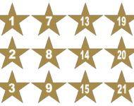 Adventskalender Zahlen Zum Ausdrucken Gold Sterne Nummern Vorlagen