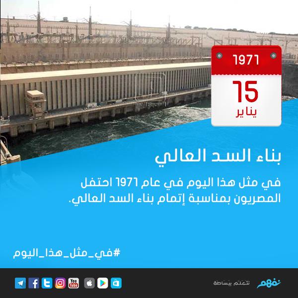 معلومة نفهم هل تعلم أنه في مثل هذا اليوم 15 يناير 1971 احتفل المصريون بمناسبة إتمام بناء السد العالي ذاكر وراجع مادة التاريخ على نفهم Http Highway Signs