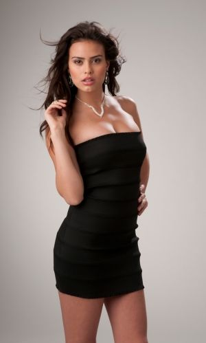 Black Strapless Shortmini Natural Tight Prom Dress Pd3003 Dresses
