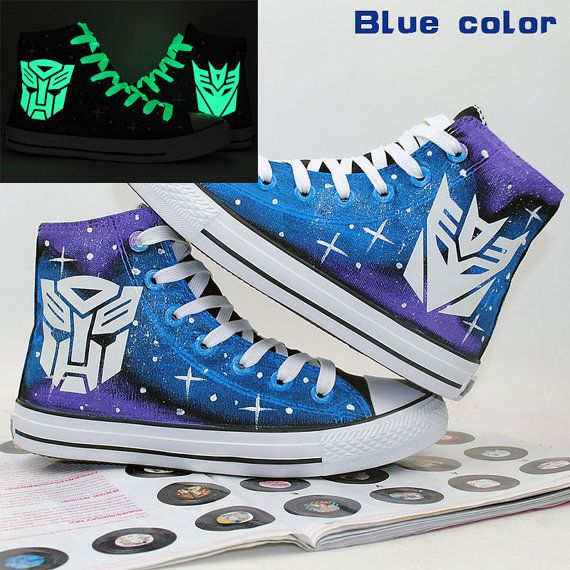 989a0836ca Transformers Autobot and Decepticon Luminous Logo Shoes Hand Pai ...