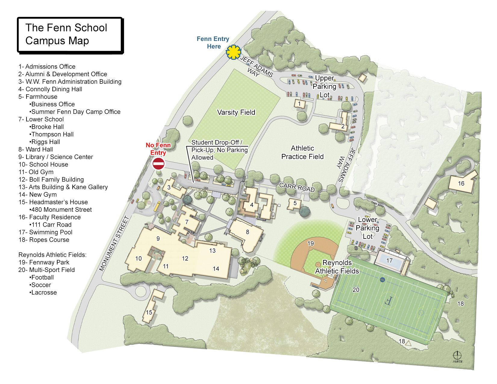 The Fenn School Campus Map Places to go Pinterest