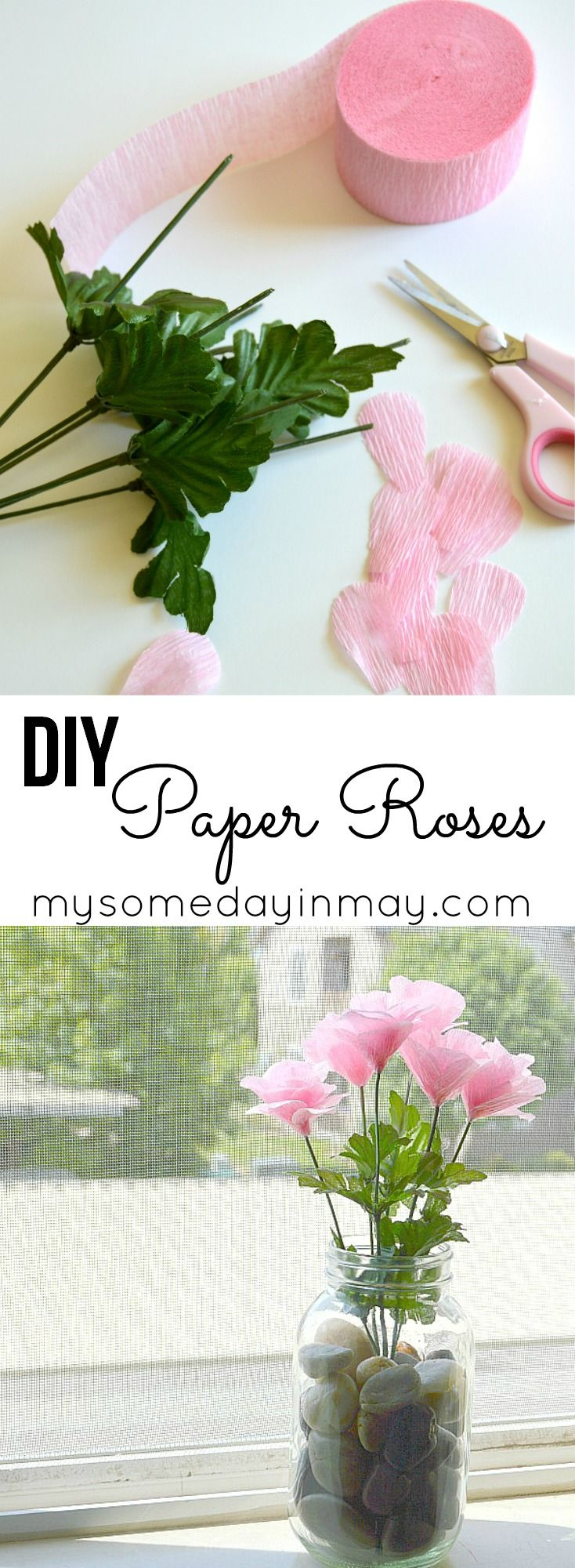 Paper Roses Pinterest Crepe Paper Diy Paper And Crepes