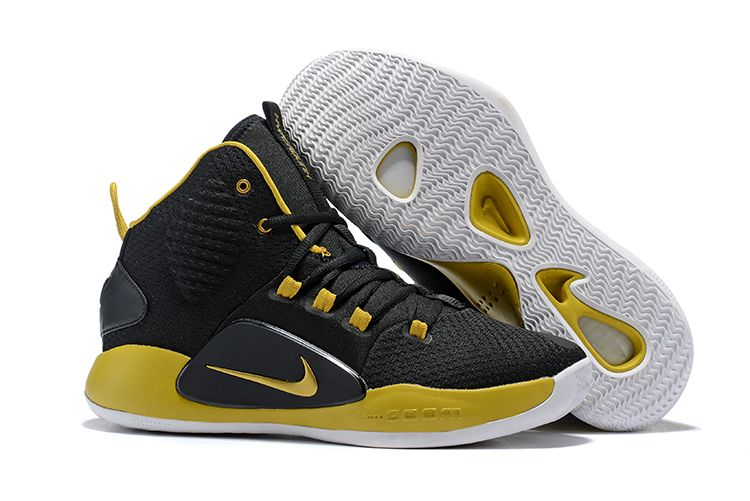 new arrival b8f23 807ea 2018 Nike Hyperdunk X Black Metallic Gold-White Men s Size Free Shipping