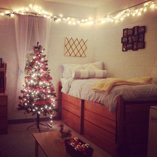 Christmas decorating idea! - Christmas Decorating Idea! [Dorm Room] Trends Dorm, Dorm Room