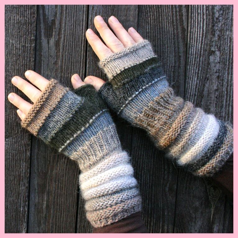 Photo of Fingerlose Handschuhe in natürlichen Farben stricken. , #fingerless #gloves #natural Farben # stric…