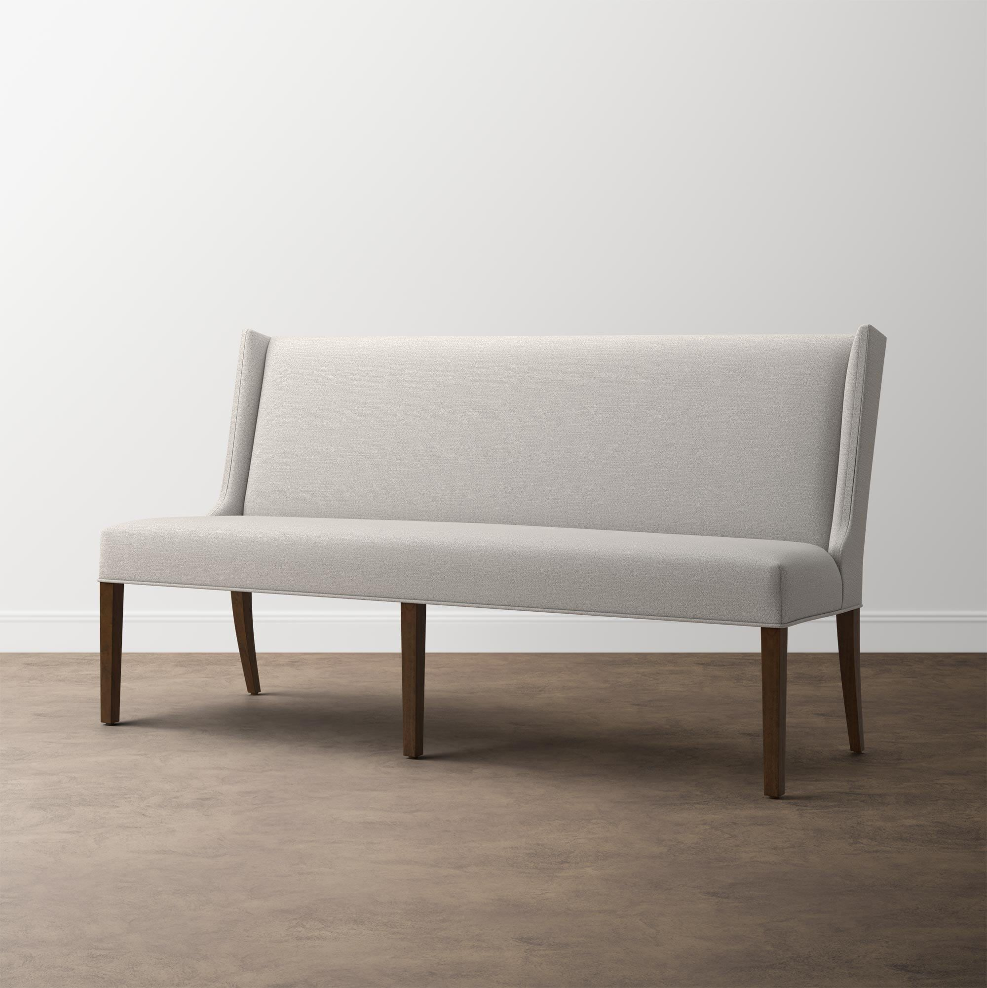 Brooke 75 Banquette In 2020 Upholstered Dining Bench Dining Bench With Back Upholstered Banquette