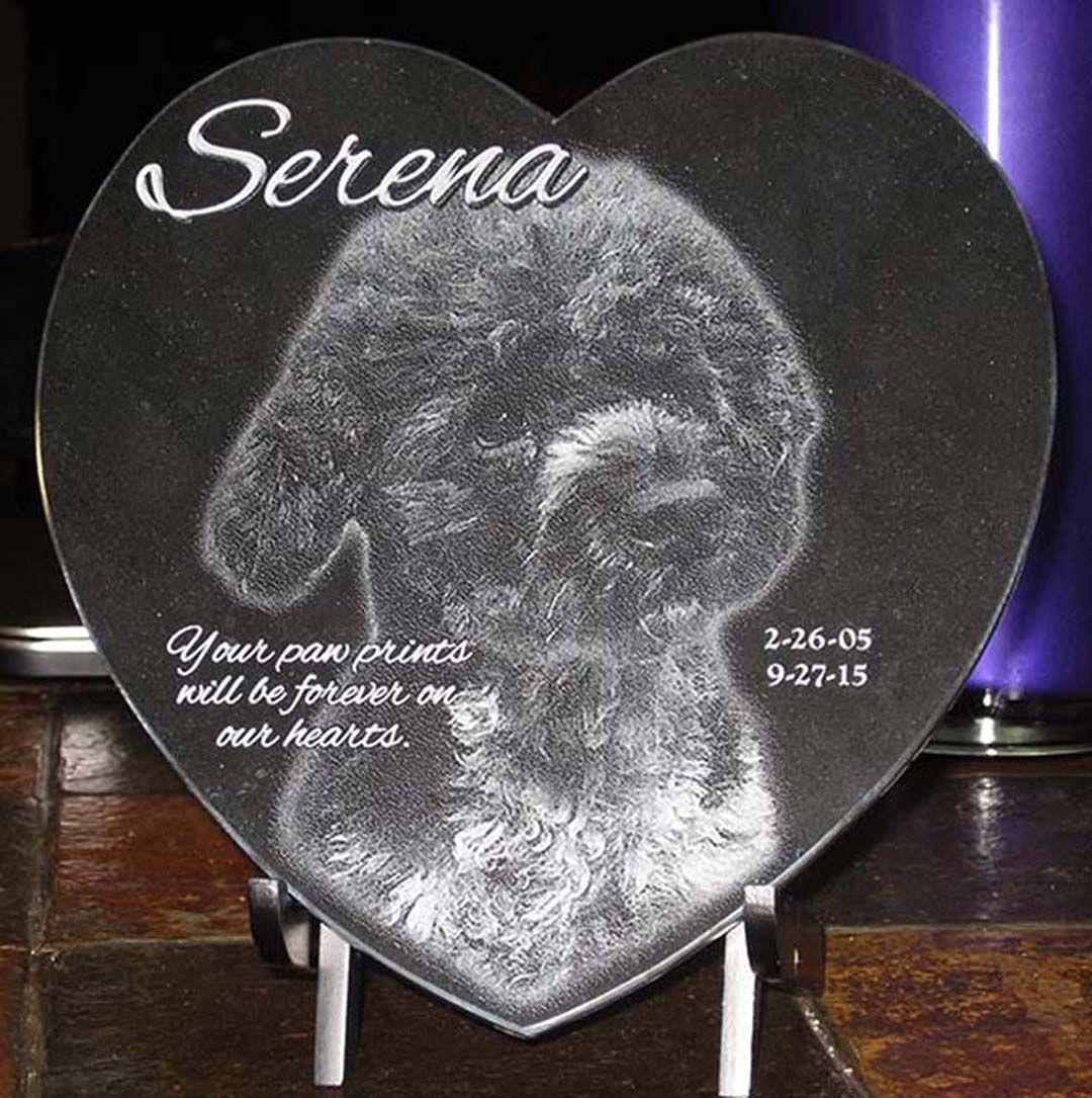 Pet Memorial Laser Engraved Black Marble Heart Pet Etsy In 2020 Pet Memorials Pet Plaques Granite Pet Memorials