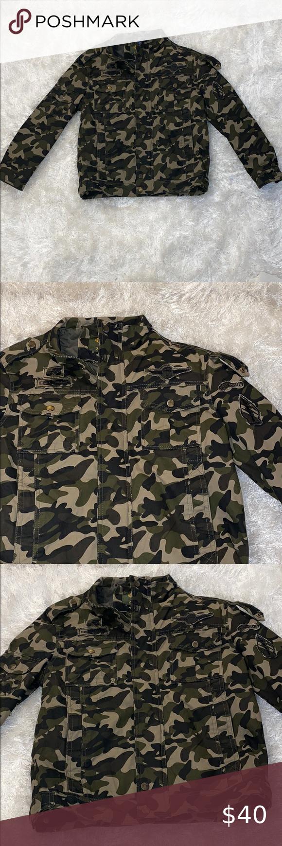 Zekai Men Army Jacket Size Large