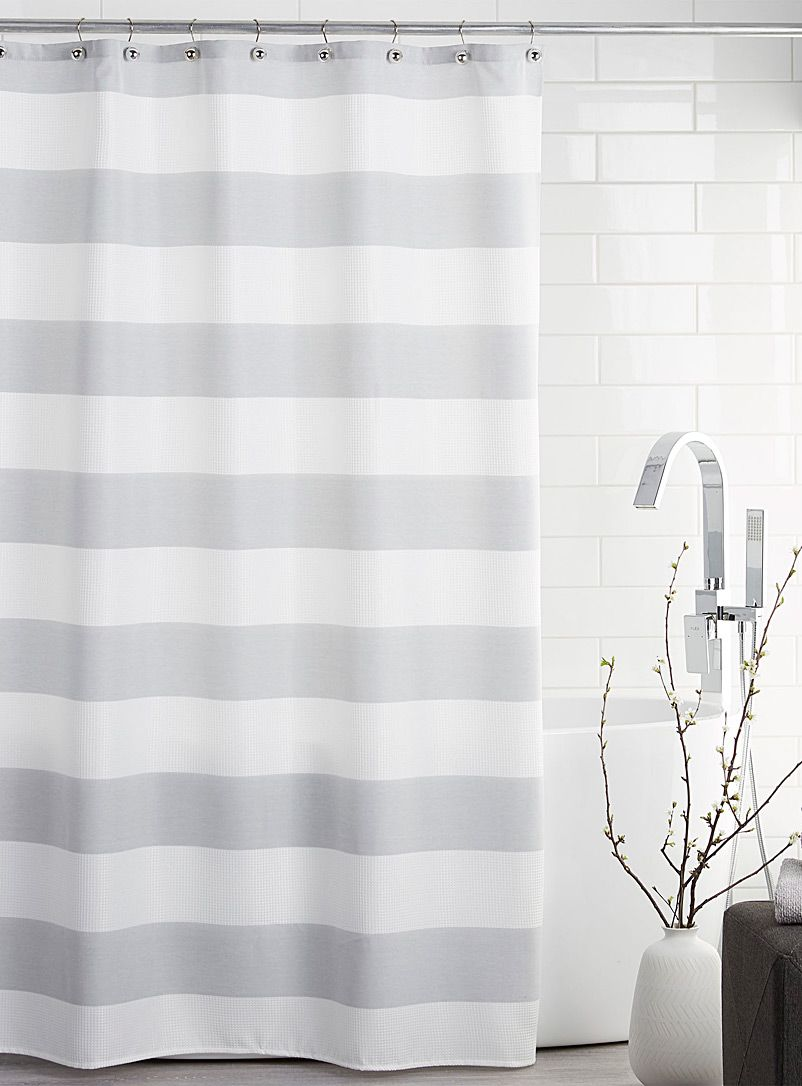Mother Stripe Shower Curtain Striped Shower Curtains Fabric