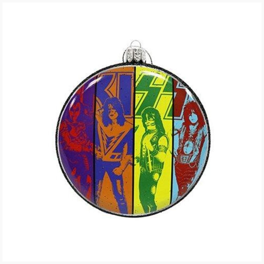 4-Inch, Kiss Blow Mold Disc Ornament