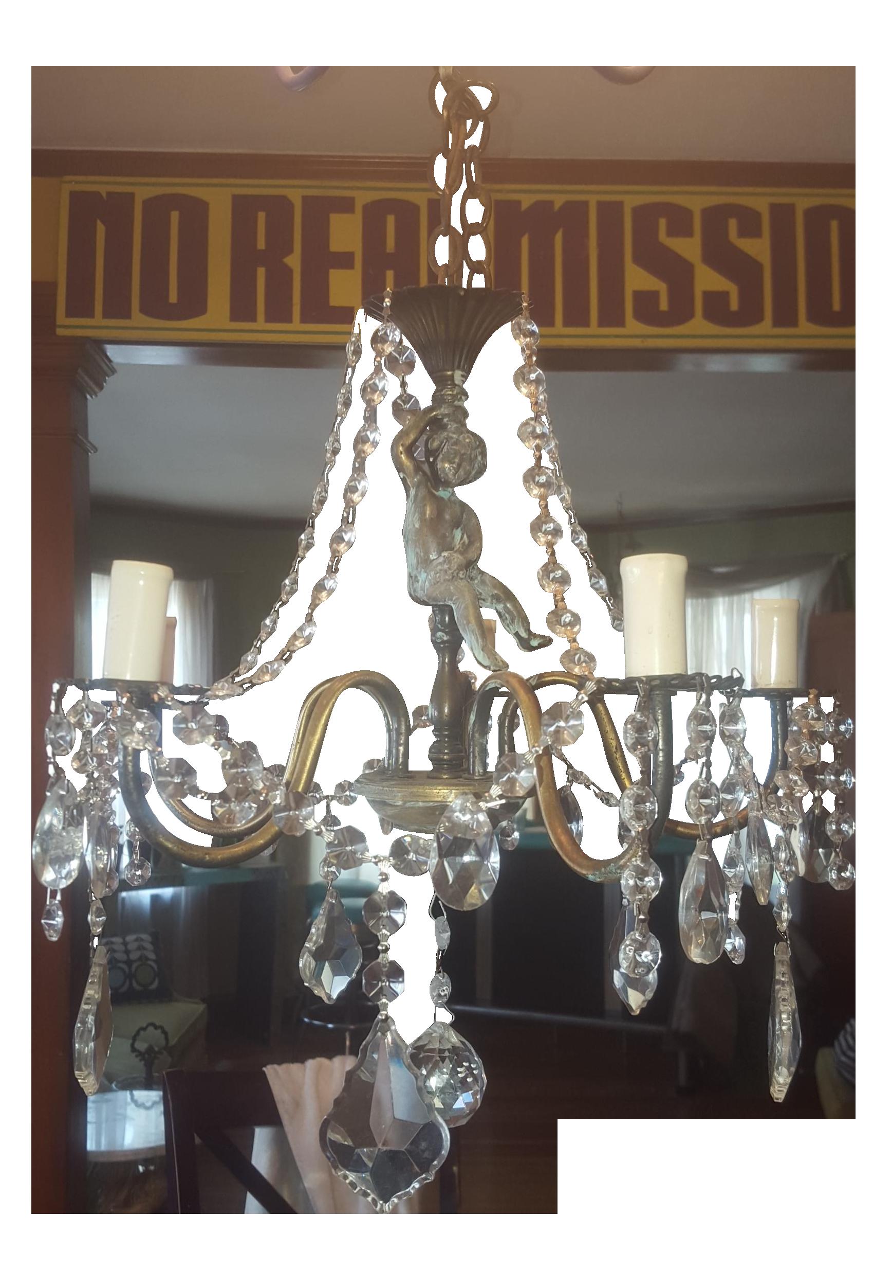 Antique bronze cherub chandelier chandeliers and lights antique bronze cherub chandelier arubaitofo Gallery