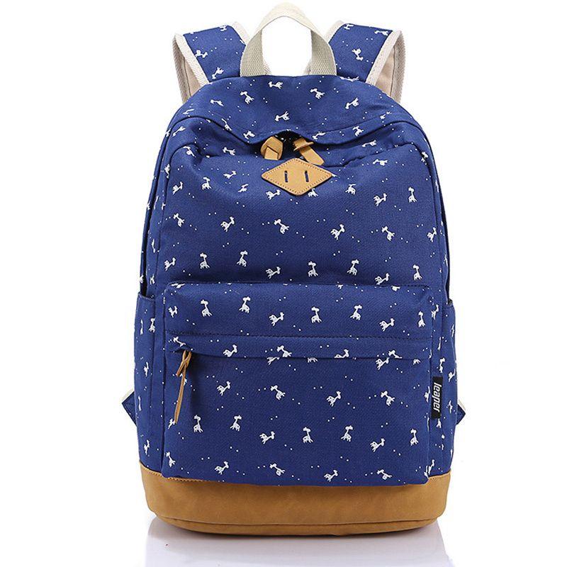 232daf664a 2016 Fashion Pink Preppy School Backpacks for Teenage Girls Mochila Escolar  Nubuck Leather Canvas Printing Backpack School Bags  Affiliate