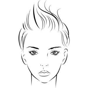 fashion illustration templates faces wwwpixsharkcom