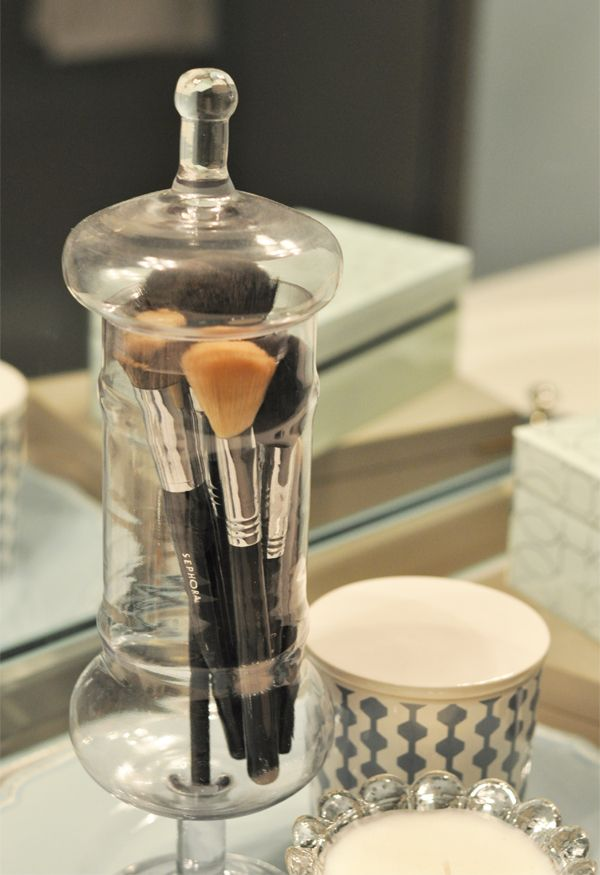 makeup brush holder bathroom brush 7 images about apothecary jars on jars dressing tables and