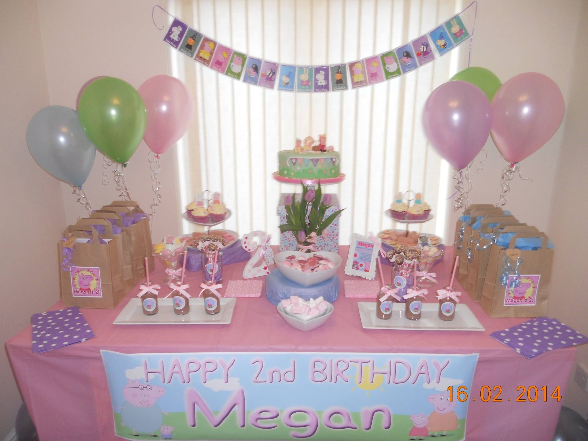 Megan's Peppa Pig Birthday Party 16th Feb 2014