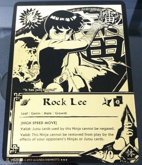N-US020 ROCK LEE Super Rare Black & Gold Holo Foil Naruto Card ...