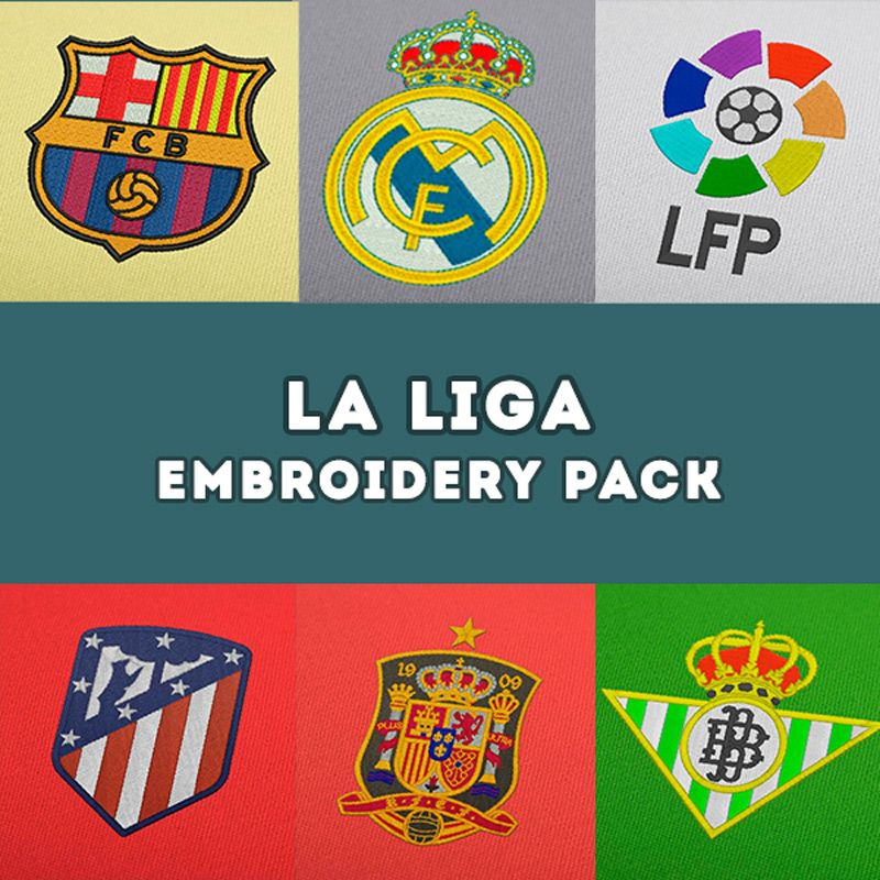 La Liga Embroidery Football Designs Pack in 2020 La liga