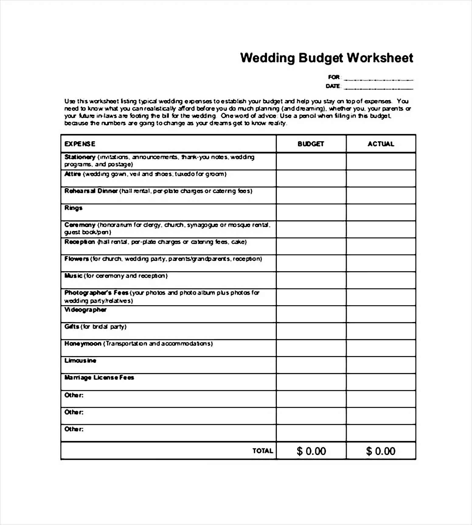 Sample Wedding Budget In 2020 Budget Wedding Budgeting Wedding Budget Worksheet