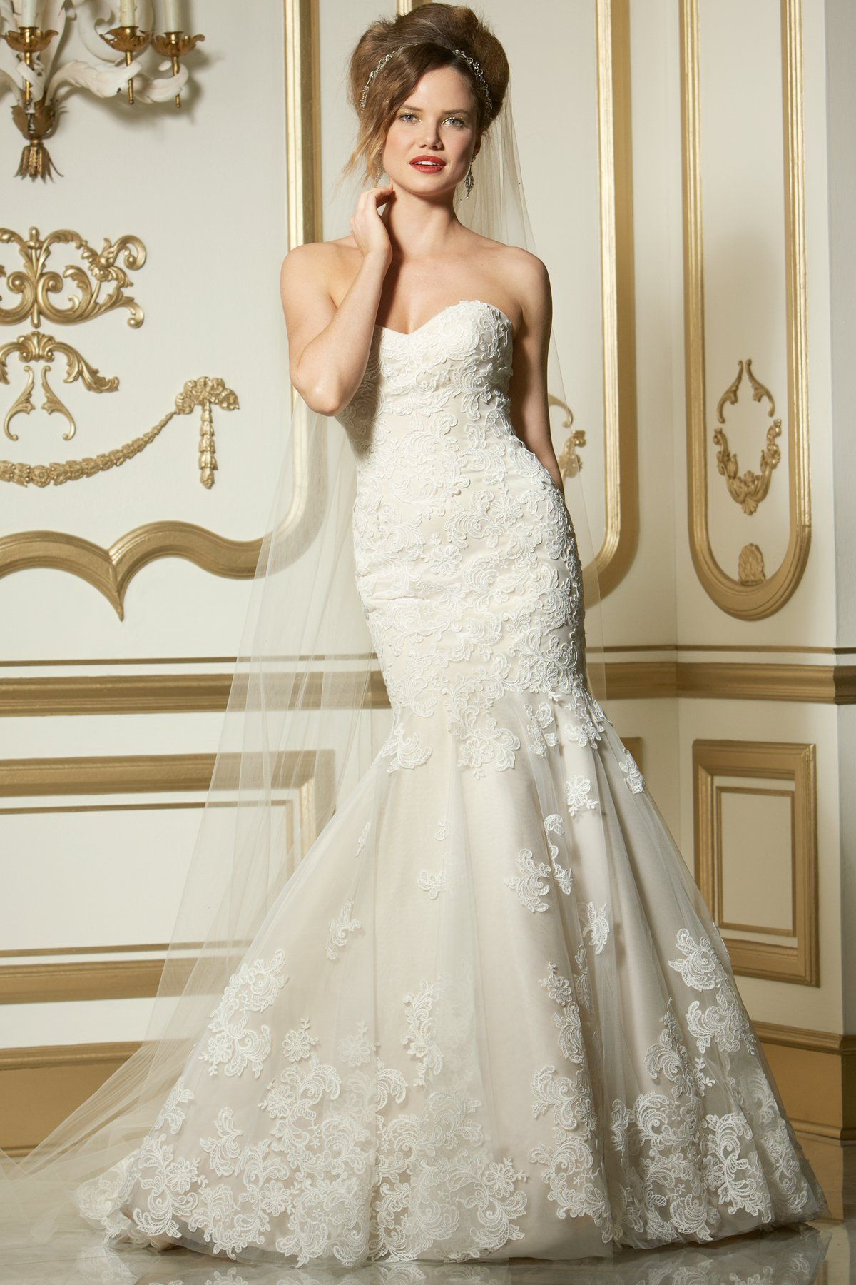 Blush mermaid wedding dress  Wtoo by Watters Wedding Dress Flora   Watters wedding dresses