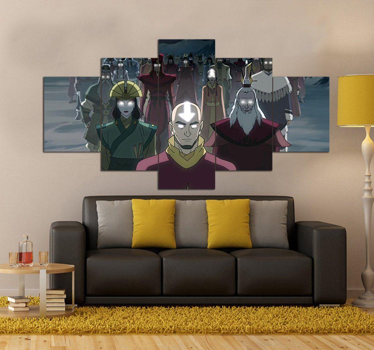 Avatar The Last Airbender Canvas Art Prints Set 5 Piece Canvas Art P 5 Piece Canvas Art Canvas Art Wall Decor Canvas Art Prints