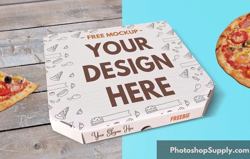 Free Pizza Box Mockup Photoshop Supply Box Mockup Pizza Box Design Pizza Boxes