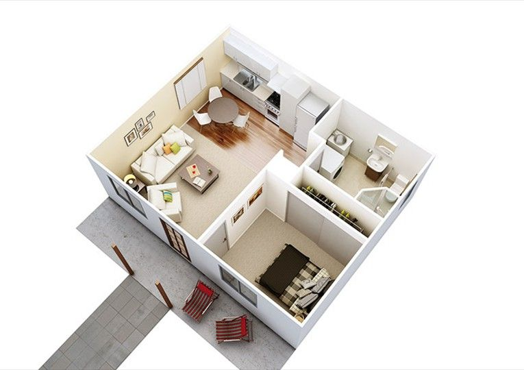 1 Bedroom Granny Flats One Bedroom House Plans Garage Conversion Granny Flat Granny Flat Plans