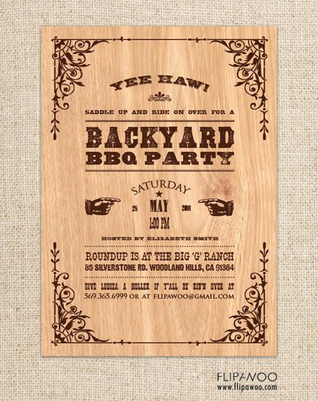 western invitations western themed invitations personalized