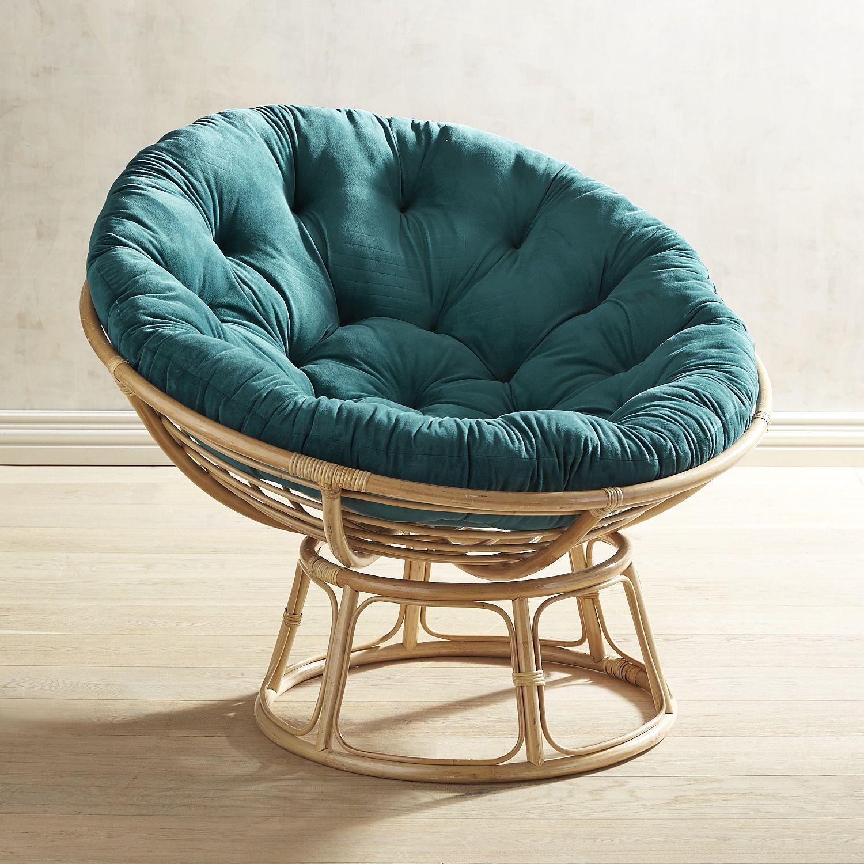 Ordinaire Plush Teal Papasan Cushion