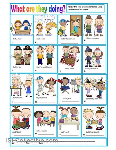 WHAT ARE THEY DOING? worksheet - Free ESL printable ...
