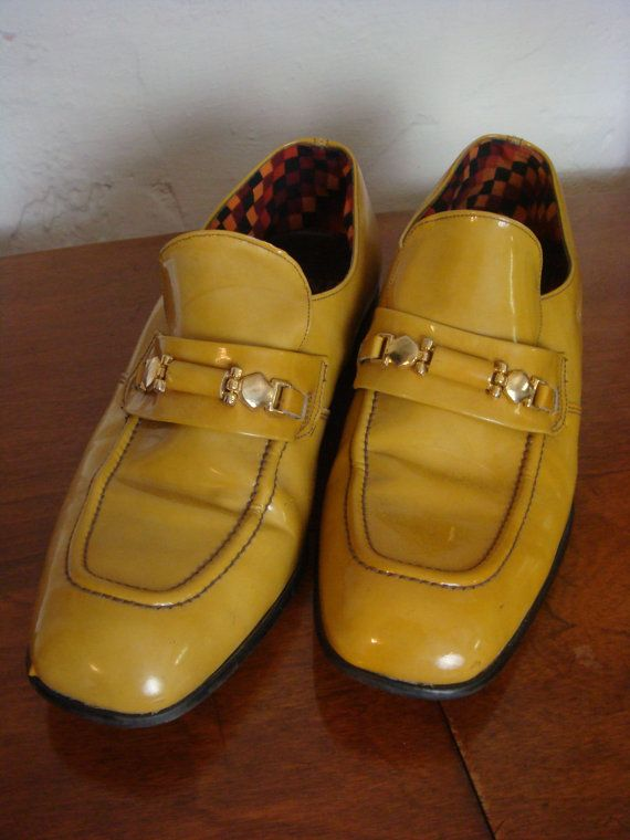 f658c8f352ab7 Vintage Mens Shoes Rand Mustard Patent Leather by retrocorrect | Mid ...