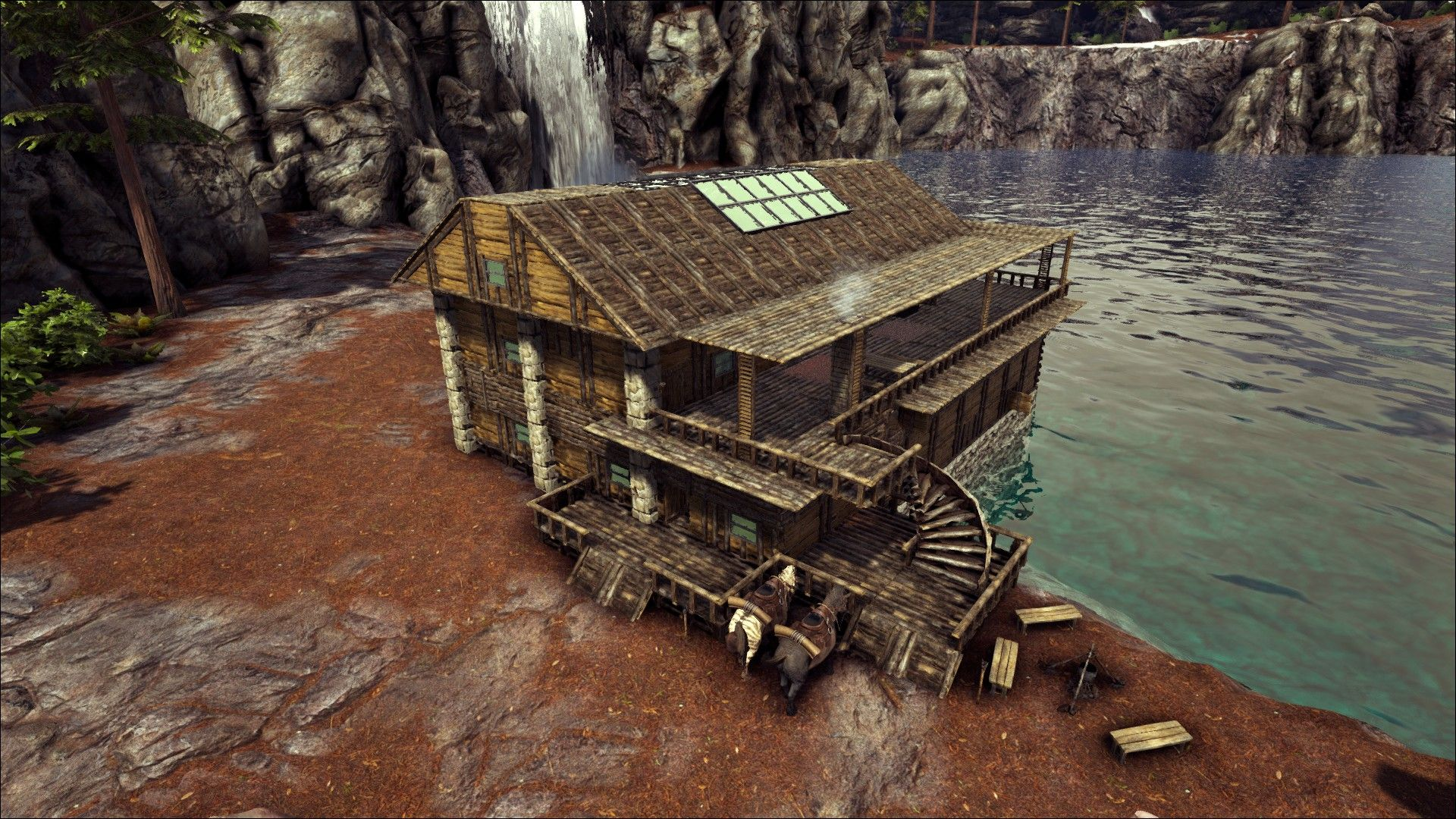 Ark, How To Build A Boathouse Base, No Mods Base Design