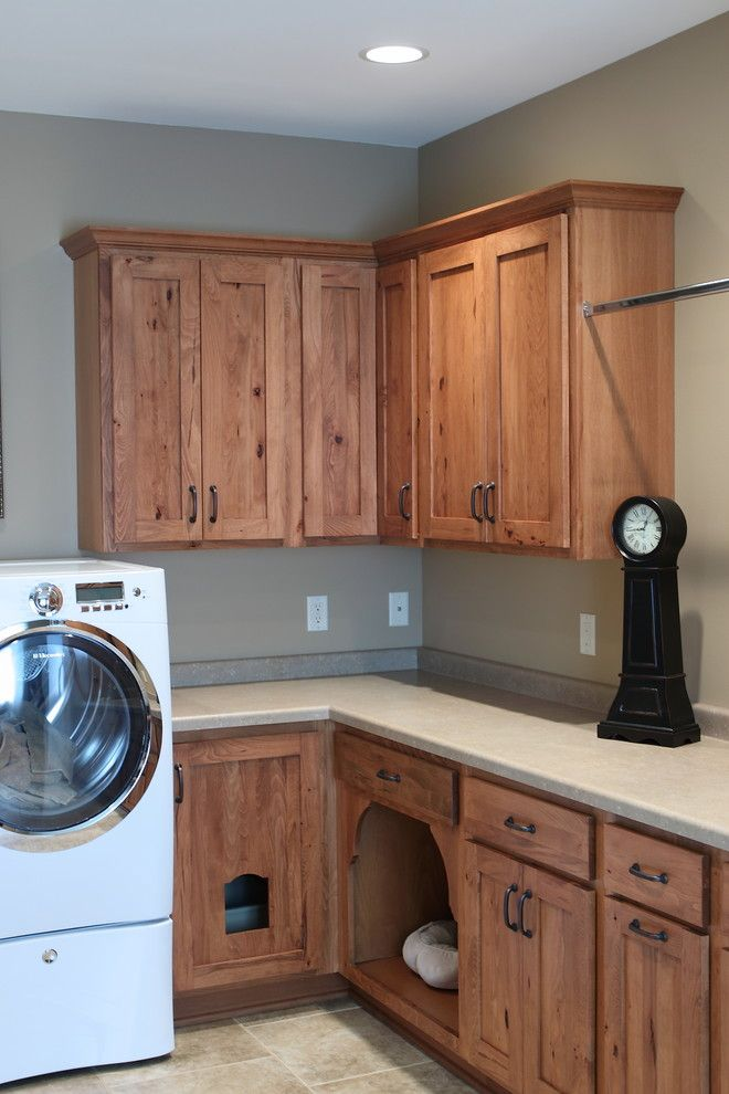 cat box and cat bed in laundry room design ideas pictures remodel and decor - Cat Room Design Ideas