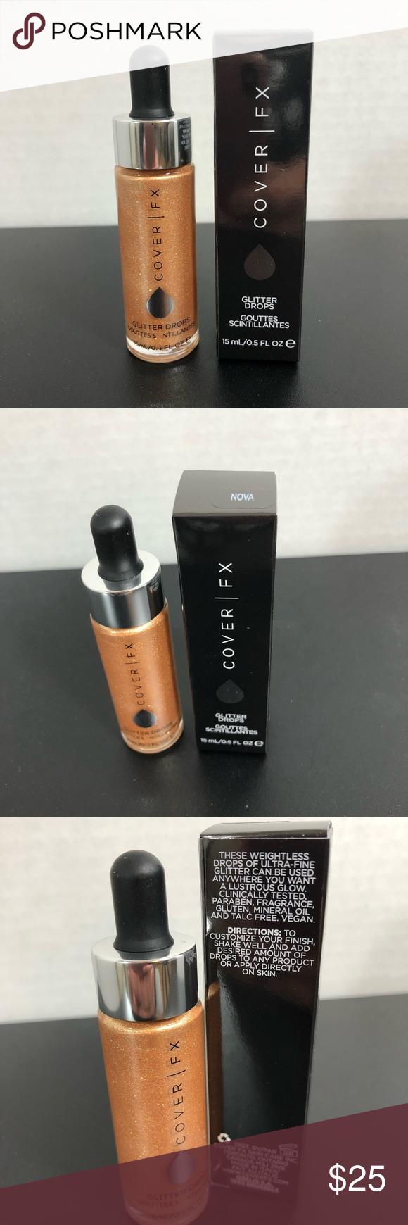 RV44 NWT Cover FX Glitter Drops NOVA Cover fx makeup