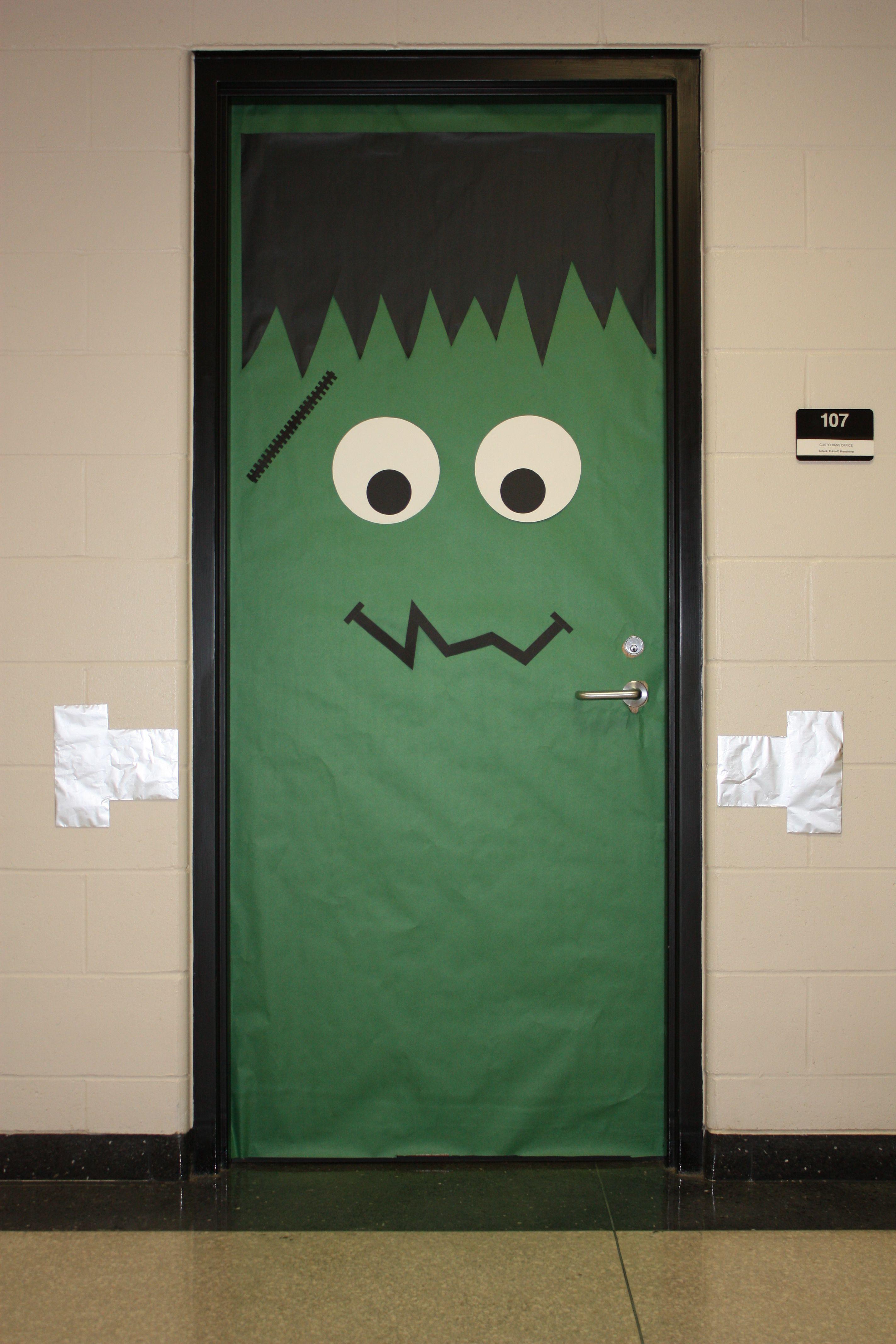 Frankenstein Door & Frankenstein Door | Door Decorations | Pinterest | Frankenstein and ...