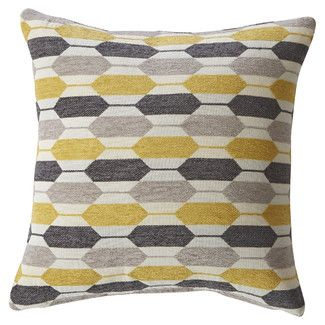 Mercury Row Canyon Creek Hexagon Feathered Throw Pillow
