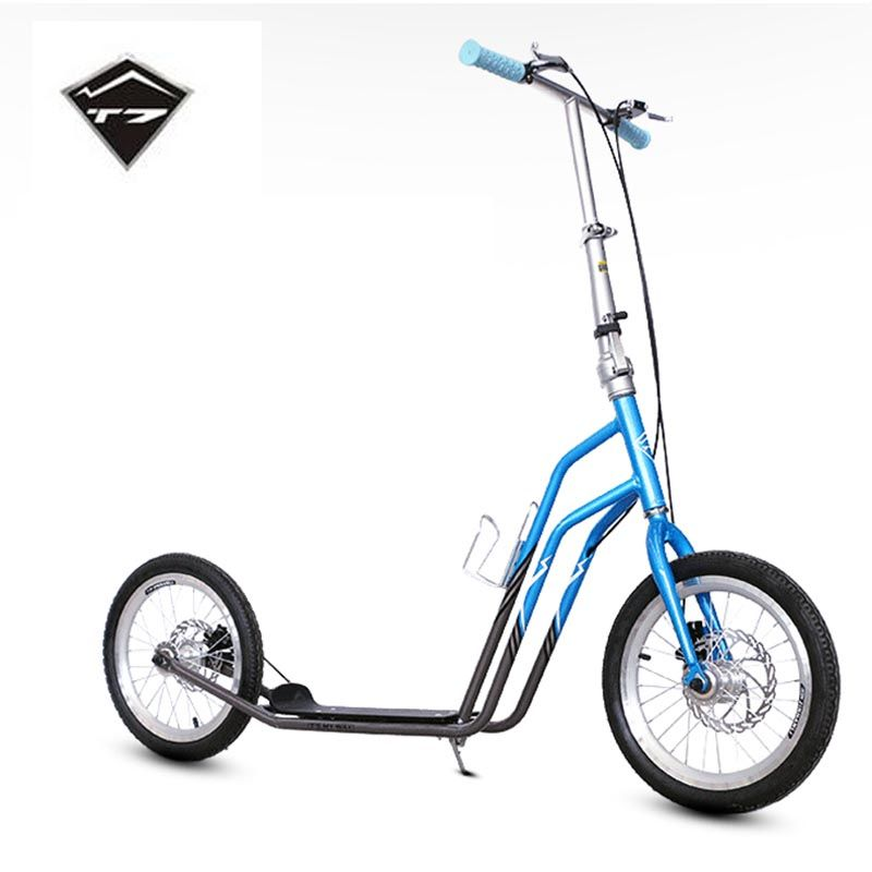 cf59e42b75 T7 16 Inch Rubber Tyre Adults Scooter With Carbon Steel Frame Hand Safe  Disk Brake City Scooter    View the item in details on AliExpress website  by ...