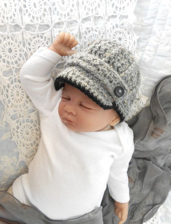 Newsboy Hat baby boy photo prop hat grey by TheStitcheryBoutique ... 079ee80339e6