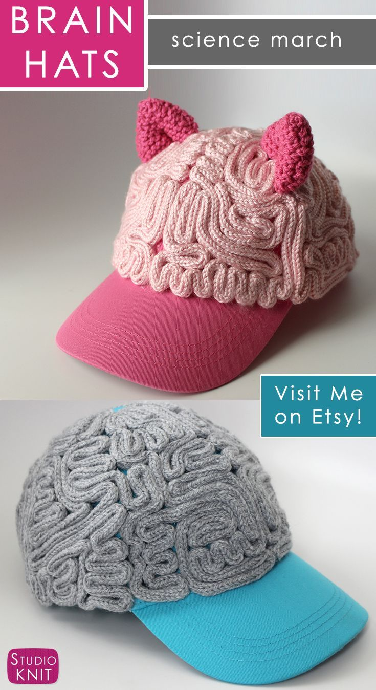 Buy a Pussy Hat Brain Hat Baseball Cap handcrafted by Studio Knit.