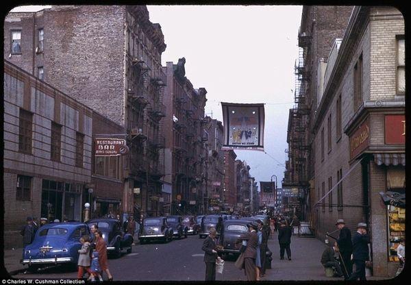 Rare Color Photos Of 1940s New York City New York City Photos Lower Manhattan New York City