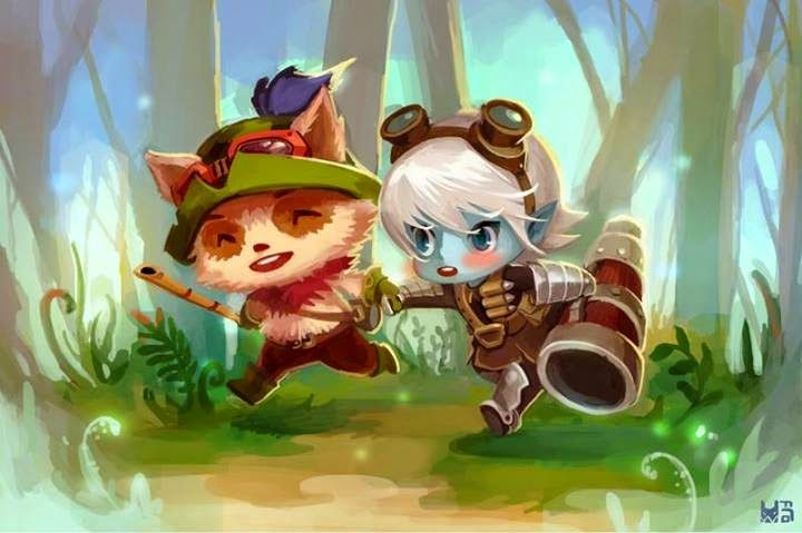 tristana and teemo - Google Search