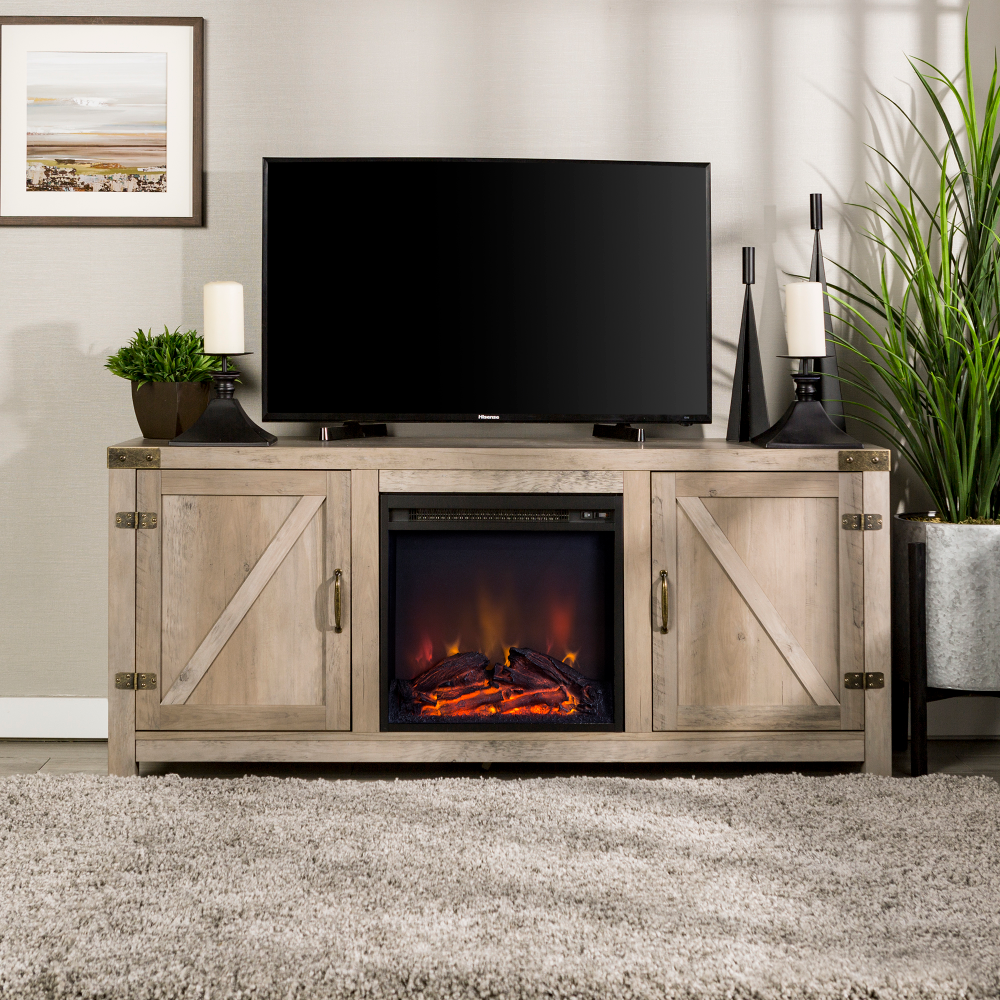 Home Fireplace tv stand, Fireplace tv, Walker edison