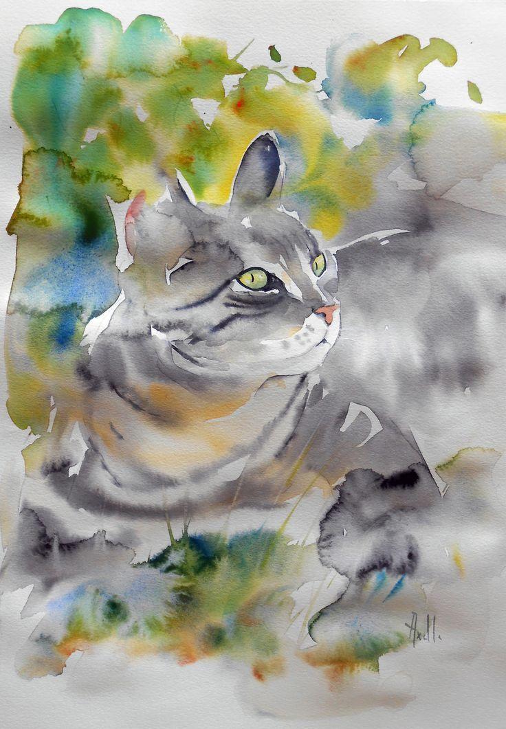 Resultat De Recherche D Images Pour Aquarelle De Chats Pinterest