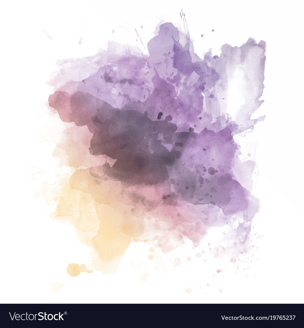 Watercolour Splatter Royalty Free Vector Image Watercolor