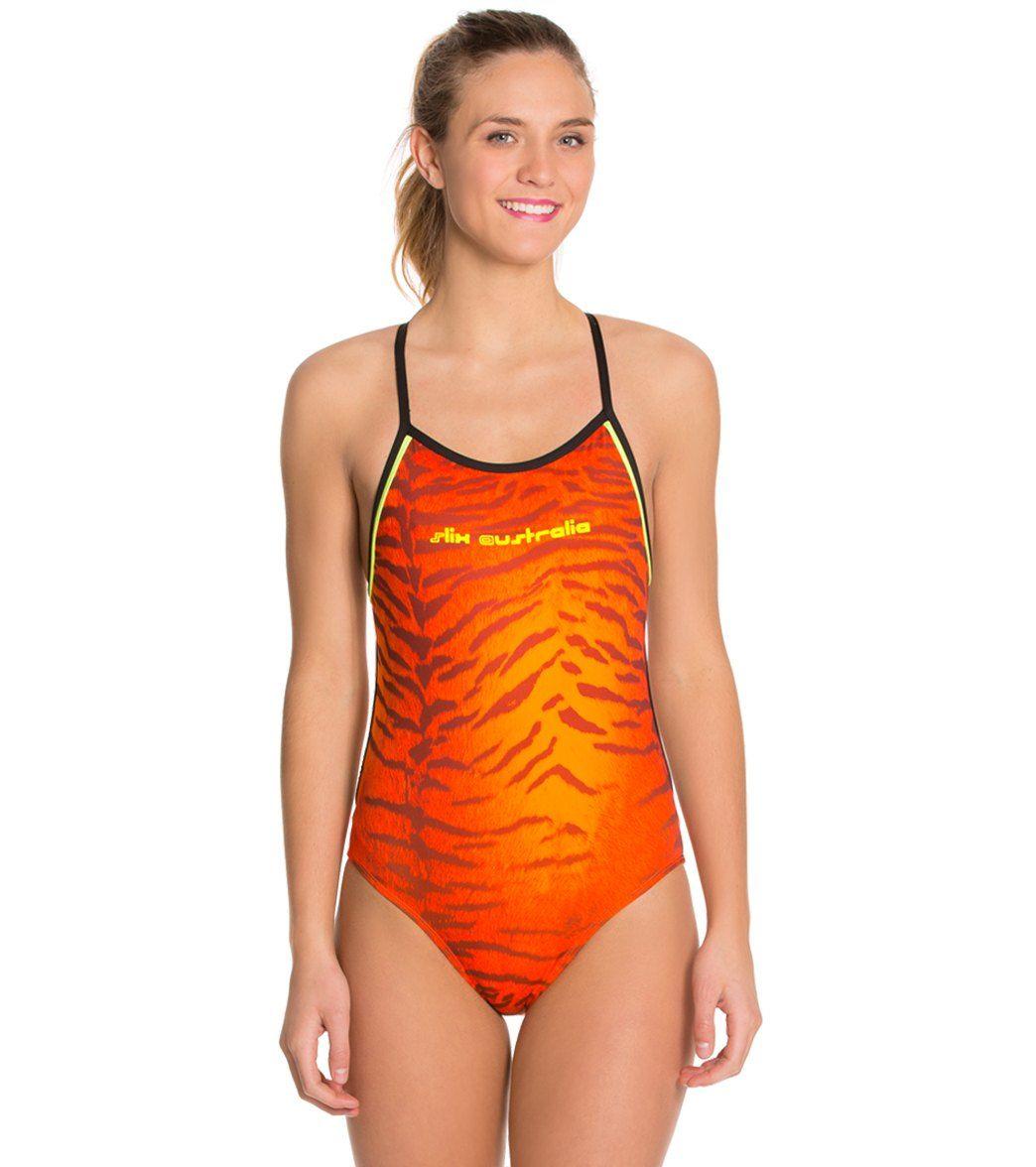 1d17a62f38b1d8 Slix Australia Tigger Minx Women's One Piece Swimsuit at SwimOutlet.com -  Free Shipping Women's