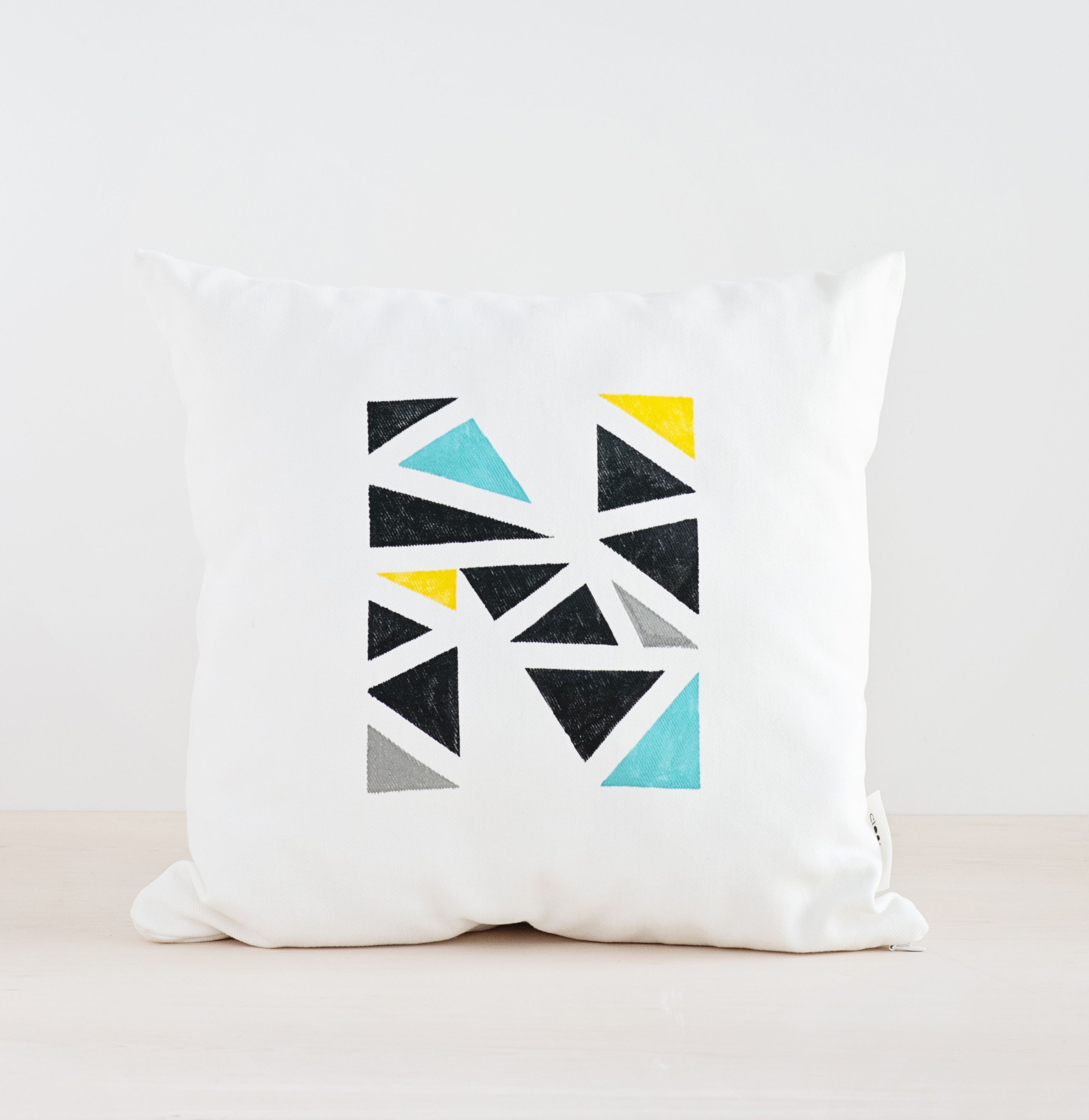 Geometric throw pillow made by two dots decor products i love