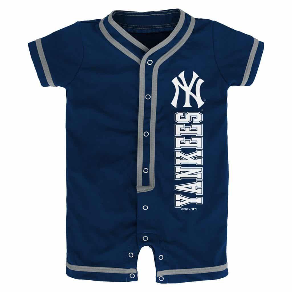 OuterStuff New York Yankees Girls Toddler 2 Button Dress