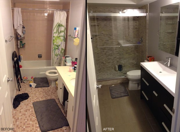 20 Before And After Bathroom Remodels That Are Stunning Small Bathroom Renovations Cheap Bathroom Remodel Small Bathroom Remodel